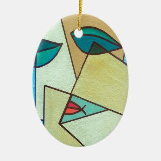 Ornamento De Cerâmica cara da arte abstracta