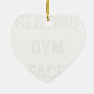 Ornamento De Cerâmica Cara de descanso do Gym