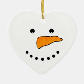 Ornamento De Cerâmica Cara do boneco de neve