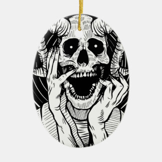 Ornamento De Cerâmica cara do diabo