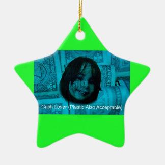 Ornamento De Cerâmica Cara do dinheiro do amante do dinheiro (plástico