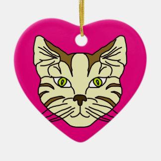 Ornamento De Cerâmica Cara do gato