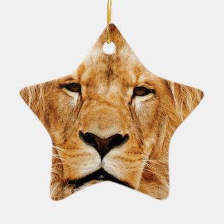 Ornamento De Cerâmica cara do leão yeah