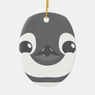 Ornamento De Cerâmica cara do pinguim do bebê