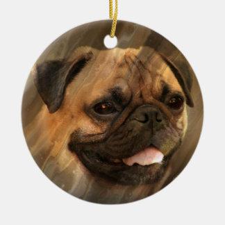 Ornamento De Cerâmica Cara do Pug
