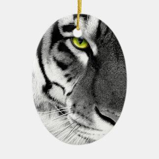 Ornamento De Cerâmica Cara do tigre - tigre branco - tigre dos olhos -