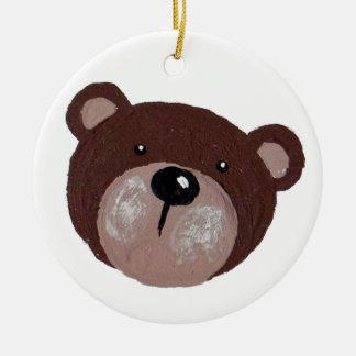 Ornamento De Cerâmica Cara do urso