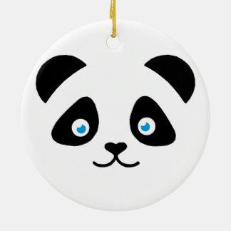 Ornamento De Cerâmica cara do urso de panda