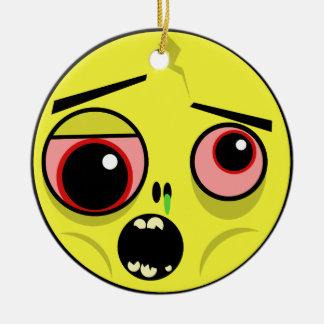 Ornamento De Cerâmica Cara do zombi