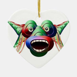 Ornamento De Cerâmica Cara engraçada futurista do caráter do monstro
