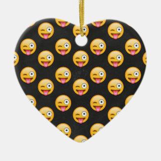 Ornamento De Cerâmica Cara louca Emoji