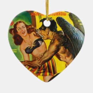 Ornamento De Cerâmica Cara peludo com asas