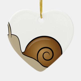 Ornamento De Cerâmica caracol lento