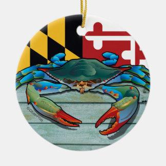 Ornamento De Cerâmica Caranguejo azul Maryland