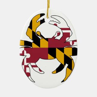 Ornamento De Cerâmica Caranguejo da bandeira de Maryland