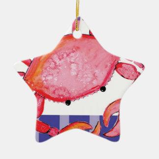 Ornamento De Cerâmica Caranguejo de Splish