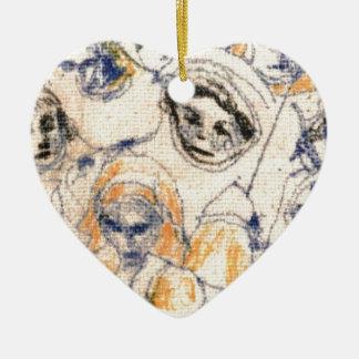 Ornamento De Cerâmica Caras