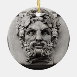 Ornamento De Cerâmica Caras de pedra do Terracotta na construção