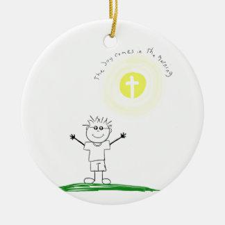 Ornamento De Cerâmica Caráter cristão bonito com escritura