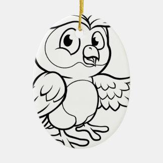 Ornamento De Cerâmica Caráter da coruja dos desenhos animados
