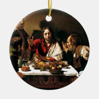 Ornamento De Cerâmica Caravaggio - ceia em Emmaus - pintura clássica