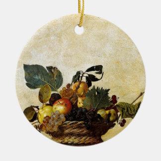 Ornamento De Cerâmica Caravaggio - cesta da fruta - trabalhos de arte