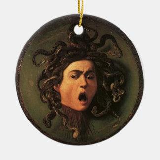 Ornamento De Cerâmica Caravaggio - Medusa - trabalhos de arte italianos