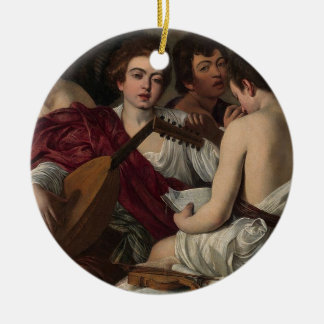 Ornamento De Cerâmica Caravaggio - músicos - trabalhos de arte clássicos