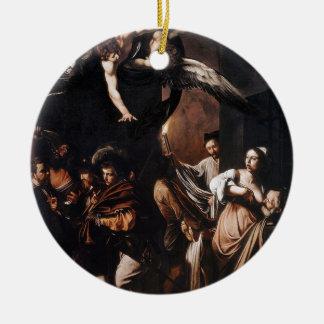 Ornamento De Cerâmica Caravaggio - os sete trabalhos da pintura do