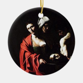 Ornamento De Cerâmica Caravaggio - Salome - trabalhos de arte barrocos