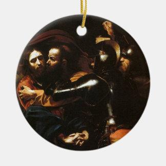 Ornamento De Cerâmica Caravaggio - tomada do cristo - trabalhos de arte