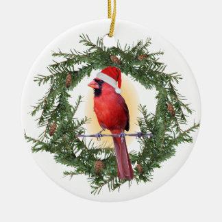 Ornamento De Cerâmica Cardeal do Natal
