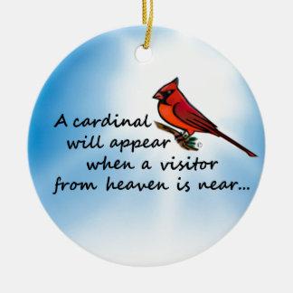 Ornamento De Cerâmica Cardeal, visitante do céu