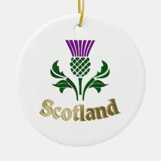 Ornamento De Cerâmica Cardo escocês do emblema