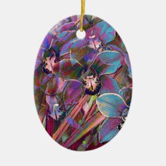 Ornamento De Cerâmica Carnaval da orquídea do Cymbidium