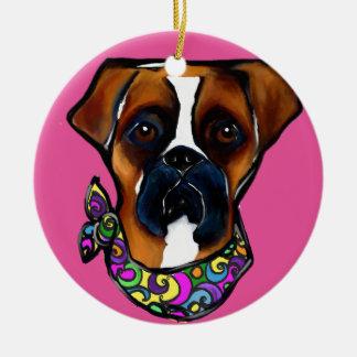 Ornamento De Cerâmica Carnaval do cão do pugilista