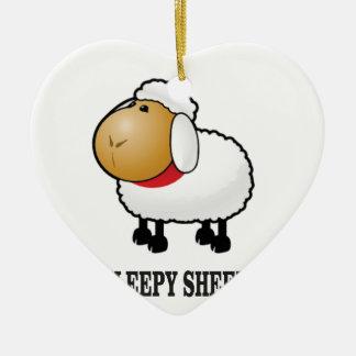 Ornamento De Cerâmica carneiros sonolentos
