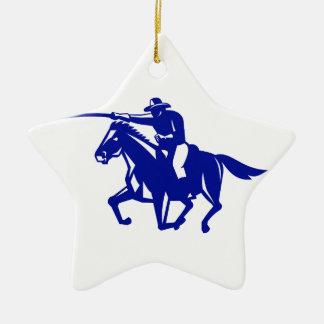 Ornamento De Cerâmica Carregamento americano da cavalaria retro