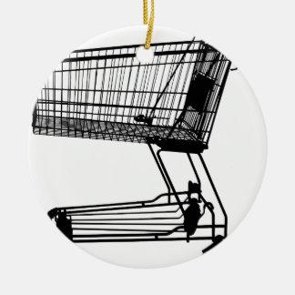 Ornamento De Cerâmica Carrinho de compras