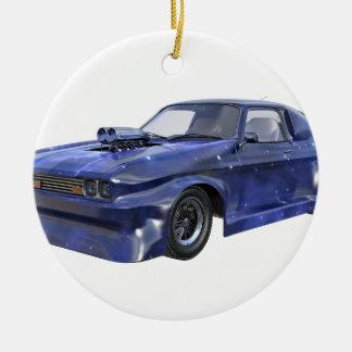 Ornamento De Cerâmica Carro azul do músculo de 2016 estrelas