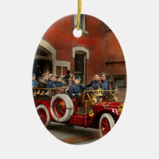 Ornamento De Cerâmica Carro de bombeiros - o esquadrão 1911 do vôo