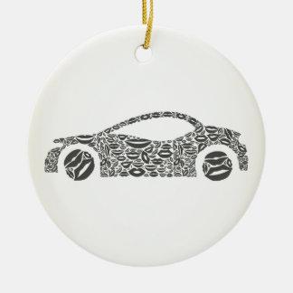 Ornamento De Cerâmica Carro um bordo