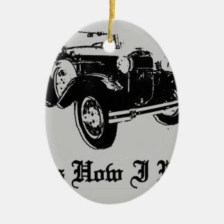 Ornamento De Cerâmica Carro velho - de que é como eu rolo