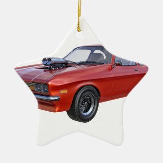 Ornamento De Cerâmica carro vermelho do músculo dos anos 70