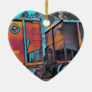 Ornamento De Cerâmica Carros de trem de conexão aristocráticos modernos