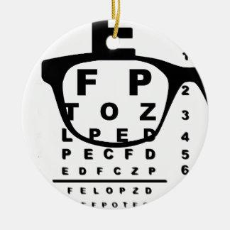Ornamento De Cerâmica Carta de teste do olho de Blurr