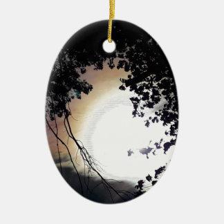 Ornamento De Cerâmica Carvalhos de Sun e de Pin