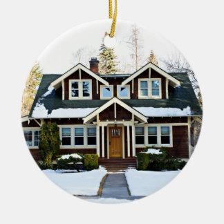 Ornamento De Cerâmica Casa bonita