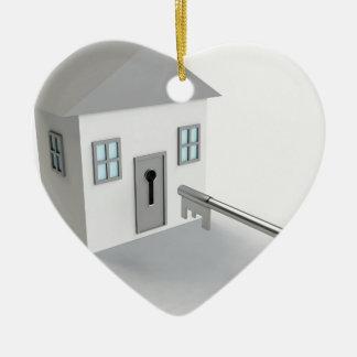 Ornamento De Cerâmica Casa chave, mediador imobiliário, vendendo