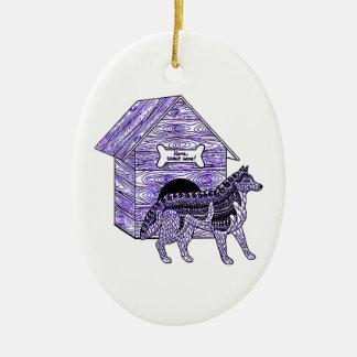 Ornamento De Cerâmica Casa de cachorro